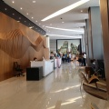 Menara Shell office tower lobby with grand reception area